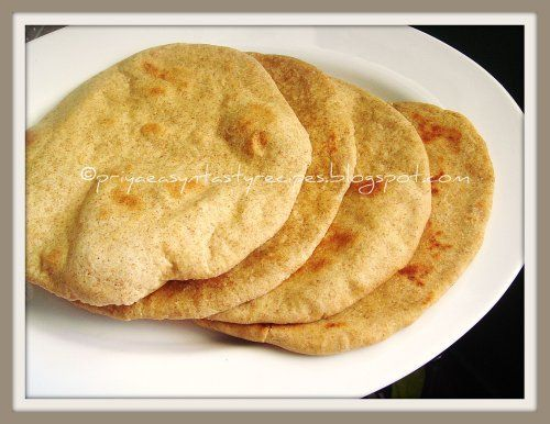 """Khobz' Arabi /Khubus - Arabic Flat Bread.  Americans call it pita bread, but my Egyptian friend calls it shamy. I told him that's what we use to wash the car (shammy/chammy/chamois cloth).  He said """"yes, sure, same thing"""" (pronunciation).  I thought that was cute.  My Saudi friend said many Saudi's don't use silverware at all, they just eat with this bread.  Interesting, isn't it?"""