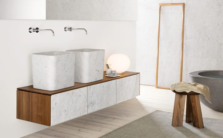 Wall-mounted furniture Neos by Luca Martorano: #furniture #consolle #interiordesign #marblefurniture #bathroom #wallmountedfurniture #bathroomfurniture