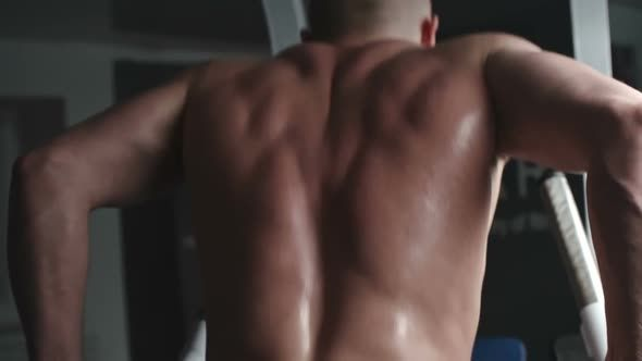 Parallel Bar Dip Exercise #Activity, #Bars, #Body, #Dip, #Gym, #Lifting, #Man, #Parallel, #Physical, #Sport, #Strong, #Tension, #Training, #Workout, #Pressmaster, #RearView http://goo.gl/vqGfnD