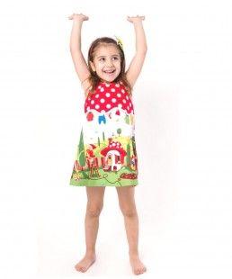 Gnomes summer girl dress