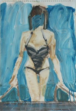 "Saatchi Online Artist Janusz Gałuszka; Painting, ""water on her face"" #art"