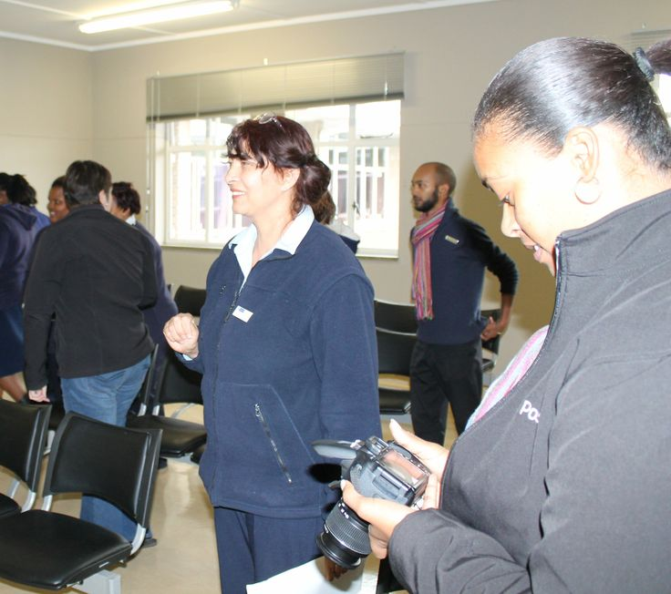TC Newman CDC hospital manager and Paarl Post journalist at the festivities celebrating the winning region.