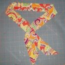"""Sew Very Useful Neck Cooler pattern. 4.5"""" per band. You can get 8 per yard."""
