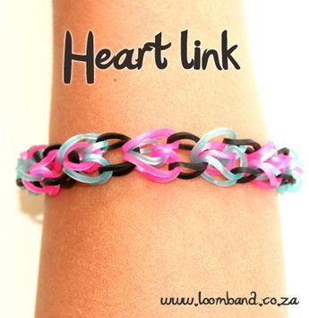 heart link loom band bracelet tutorial, instruction and videos on hundreds of loom bands designs. Shop online for all your looming supplies delivery
