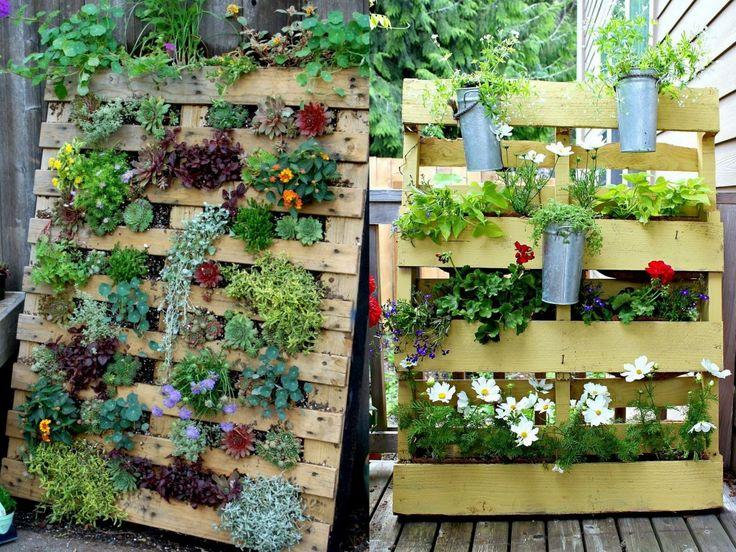 un jardin vertical en palettes jardin en palette. Black Bedroom Furniture Sets. Home Design Ideas