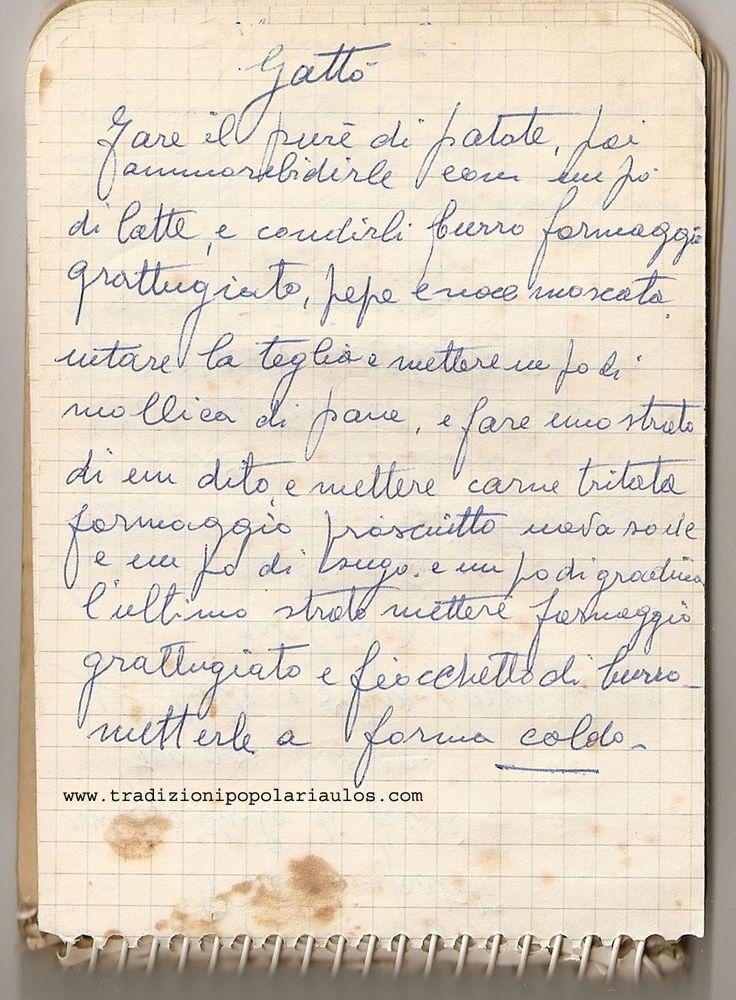 Gattò - Le ricette di Nonna Maria - Antiche ricette siciliane