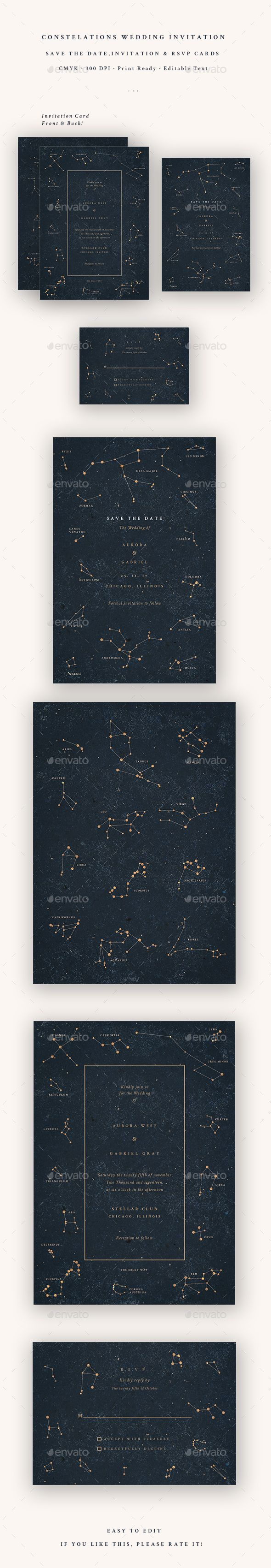 wedding invitation printing malaysia%0A Constellations  Wedding Invitation   Cards  u      Invites Print Templates  Download here  https