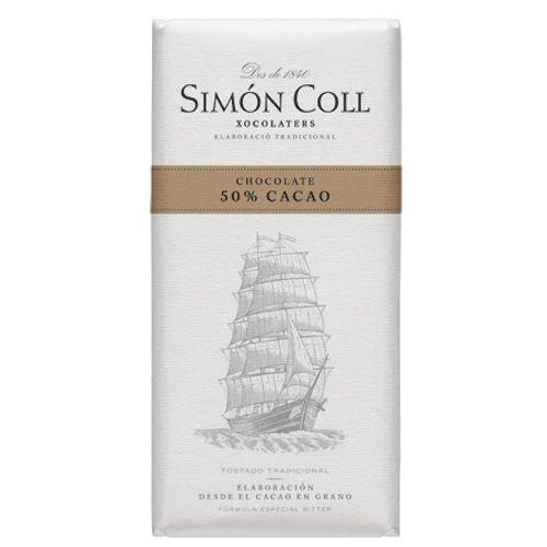 Simon Coll 85g. Ciocolata neagra 50% cacao FARA GLUTEN