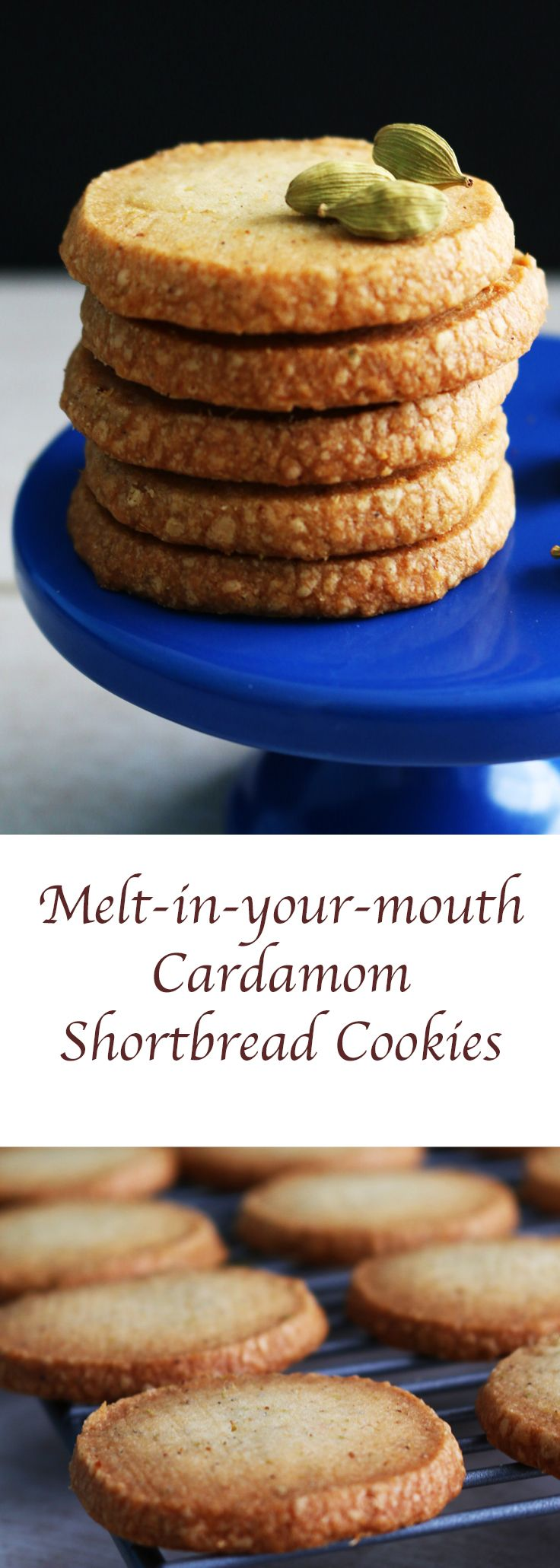 3/4 cup all purpose flour  1 tablespoon cardamom powder, refer notes  1/4 teaspoon salt  1 stick unsalted butter (1/2 cup), room temperature  1/4 cup + 1 tablespoon confectioners sugar