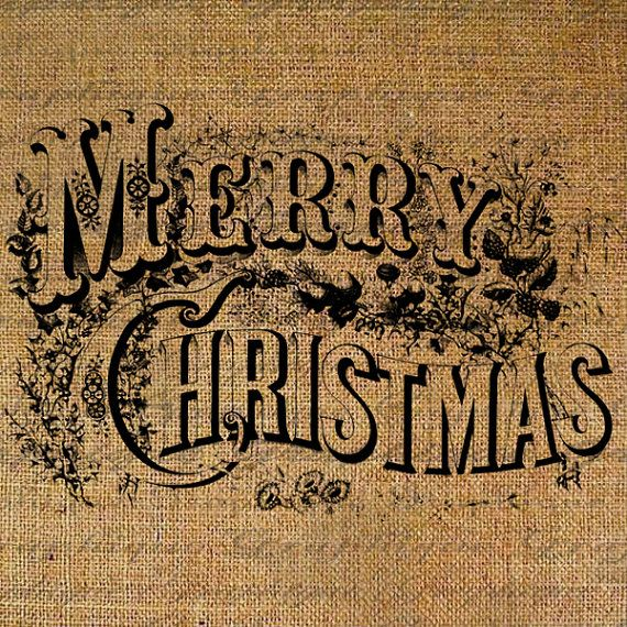MERRY CHRISTMAS Text Digital Collage Sheet Download by Graphique, $1.00