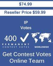 Buy 400 IP/Single Click Votes at $59.99 Votes from different USA IP Address Bulk Votes Available. Different Country IP address available. www.getcontestvot... #buyonlinevotes #buycontestvotes #buyfacebookvotes #getonlinevotes #getcontestvotes #buyvotesforonlinecontest #buyipvotes #getbulkvotes