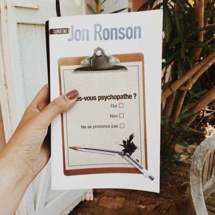 """l'enquête de Jon Ronson, """"Etes-vous psychopathe ?"""""""