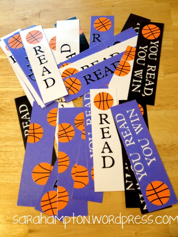 March Madness basketball bookmarks using Cricut. UK inspired colors.