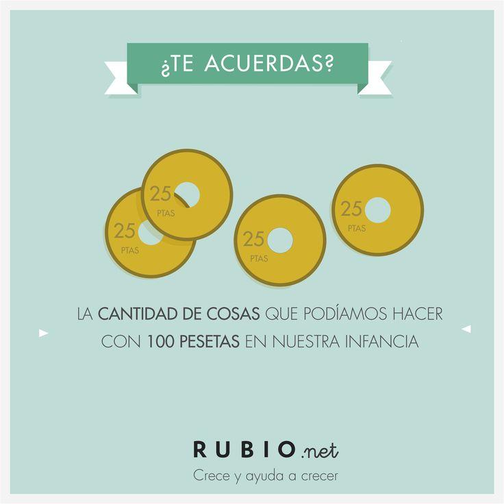 La cantidad de cosas que podíamos hacer con 100 pesetas en nuestra infancia. www.rubio.net