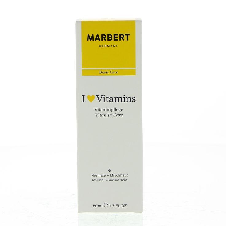 Marbert Face Care I Love Vitamins Vitamin Care Crème Normale/Gemengde Huid 50ml  Description: Marbert I Love Vitamins Vitamin Care. Deze vitamine verzorging voor de normale tot gemengde huid bevat fruit extracten en vitamine C die de huid verfrist en hydrateert. Vitamine E beschermt de huid tegen vroegtijdige veroudering en abrikozenpitolie maakt de huid zacht. GEBRUIK:'s Ochtends en's avonds op een gereinigd gezicht en decolleté aanbrengen. Dit product is niet comedogeen. Dermatologisch…