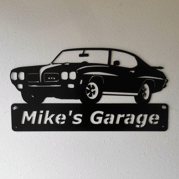 1970 Pontiac GTO chèvre personnalisé homme des cavernes signe
