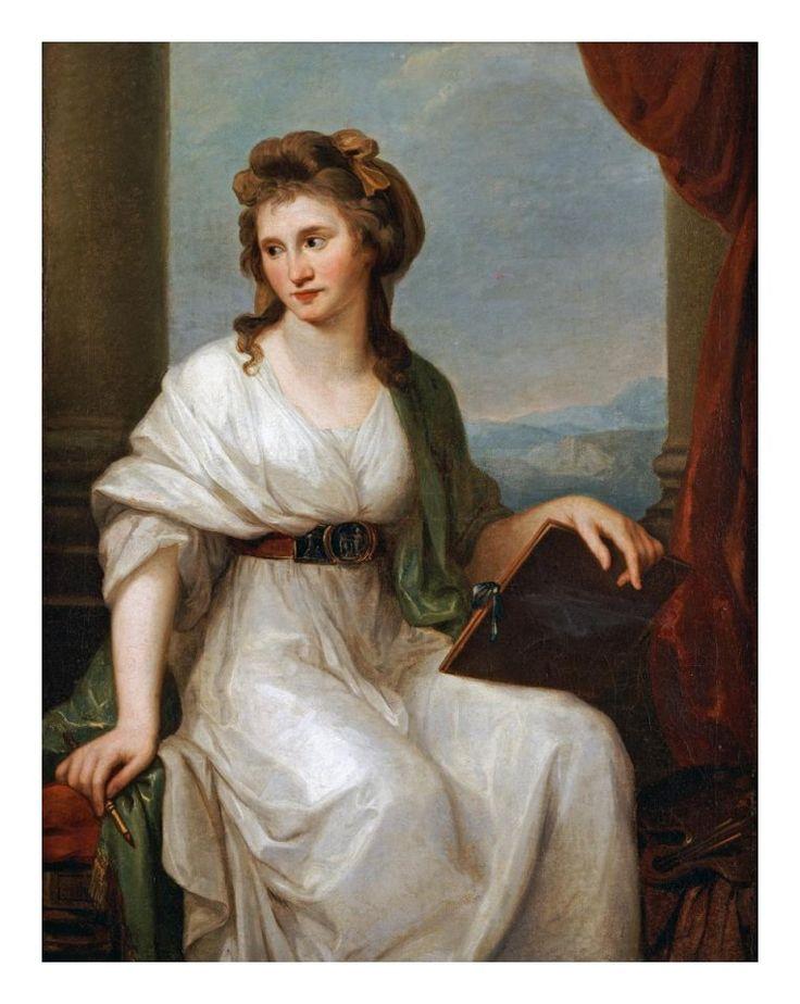 Angelica Kauffmann - Portrait of The Artist - Art Print