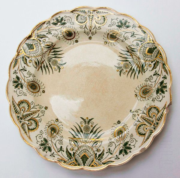 An original 'owl service' ceramic plate: This plate was part of the dinner service that inspired Garner's novel. According to Griselda Garner the service originally belonged to her aunt, who bought it at a farm sale in Somerset but then 'packed [it] away and put [it] in a barn because she said that the owls watching her eat gave her indigestion'. AG Archive 41 (by kind permission of Alan Garner)