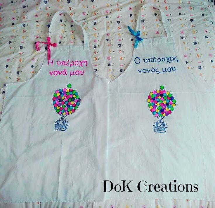 Χειροποίητες ποδιές βάπτισης για νονά και νονό!Ζωγραφισμένες στο χέρι με ειδικούς μαρκαδόρους #dok #dokcreations
