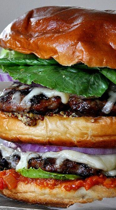 Big Burger with Bacon Jam