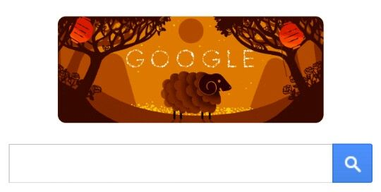 Today is the start of the Chinese New Year, an event that is determined by the cycles of the moon. The folks at Google decided to celebrate the occasion with a special Google doodle animation.  TheChinese lunar New Yearbegins with the second new moon after the winter solstice. This normally happens between mid-January and mid-February, so the New Year does not take place on a fixed date.  Happy Year of the Ram/Sheep/Goat!  The celebratory Google doodle features an animated ram enjoying a…