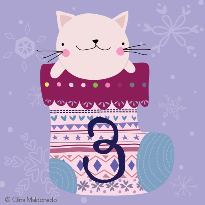 Gina Lorena Maldonado - 3 - Cat In Christmas Stoking - GM