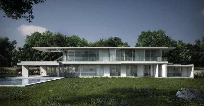 Exterior tutorial for 3ds Max and V-Ray by Leandro Silva