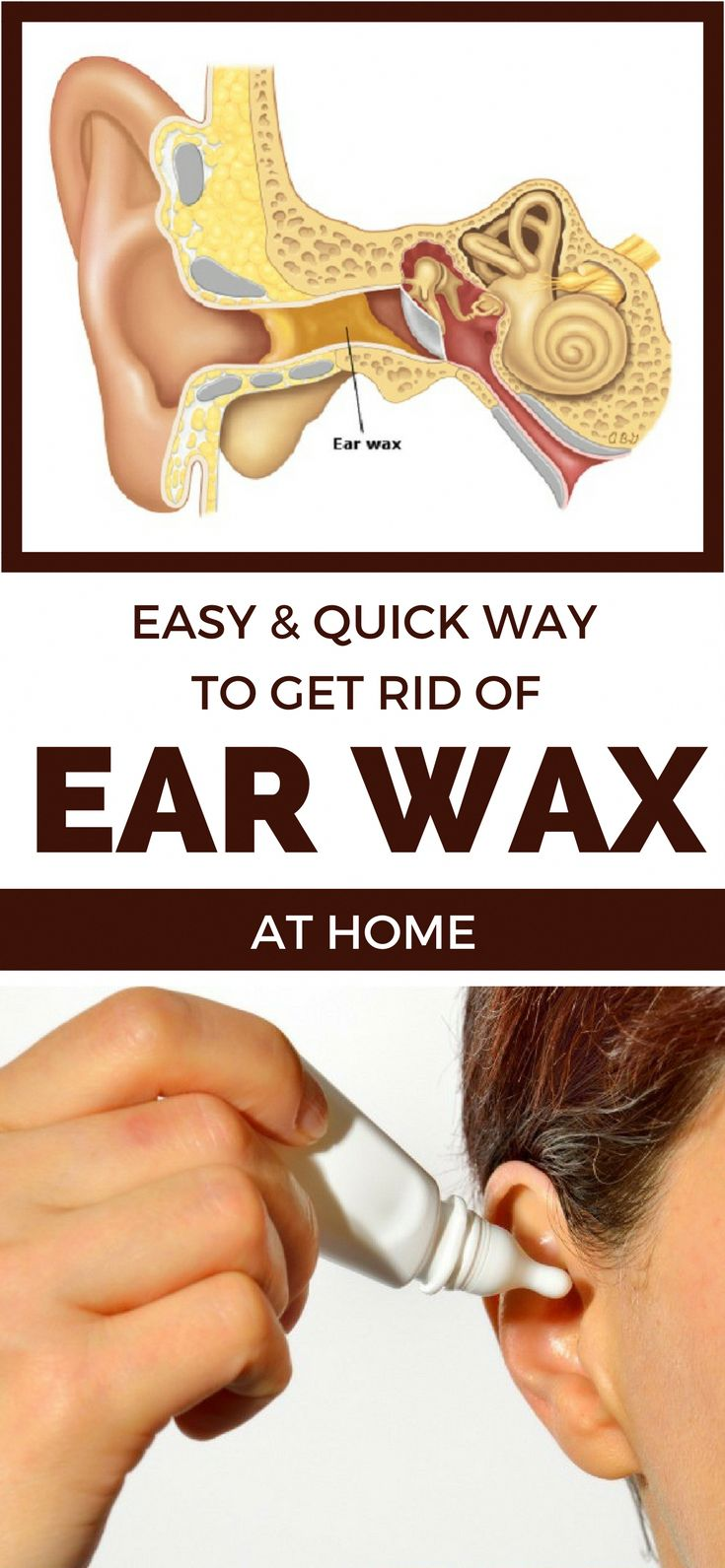 Easy quick way to get rid of ear wax at home ear wax