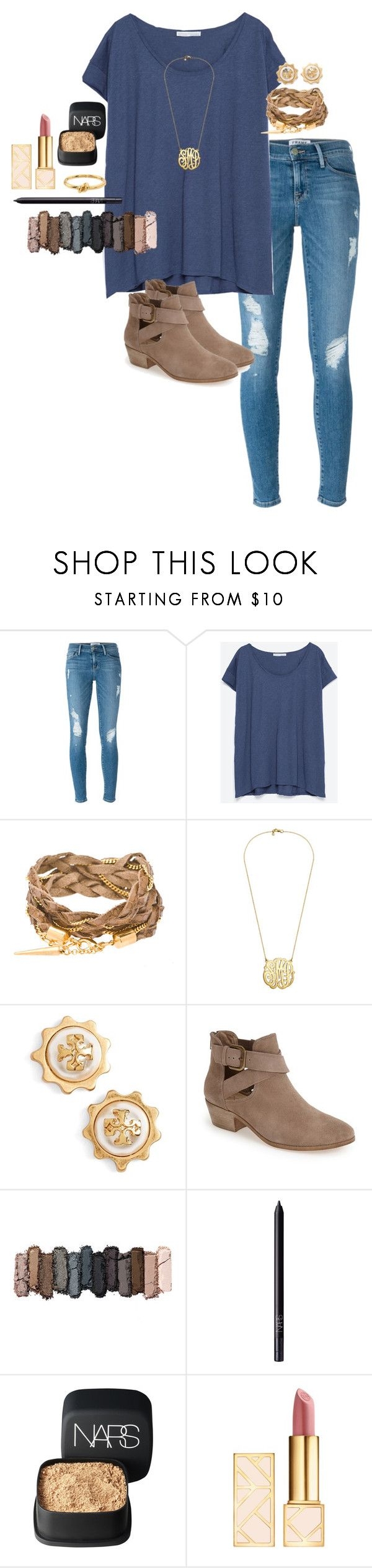 """Almost to 700!!!"" by anna-watson00 ❤ liked on Polyvore featuring Frame Denim, Zara, Tory Burch, Sole Society, Urban Decay, NARS Cosmetics and Kate Spade"