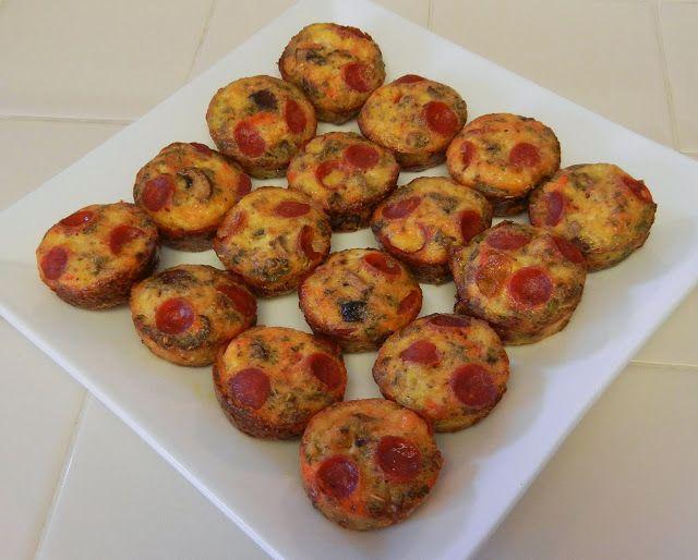 Eggface Healthy Italian Recipes: Pizza and Mushroom Egg Bites (aka Crustless Quiche)