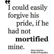 Jane Austen quote on pride