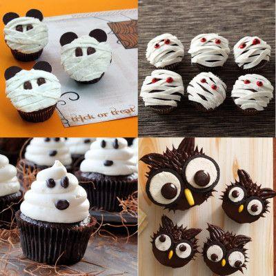 Una de las recetas más sencillas de preparar para la noche de Halloween, son los cupcakes. Ya os enseñamos a preparar unos divertidos cupcakes de búhos par