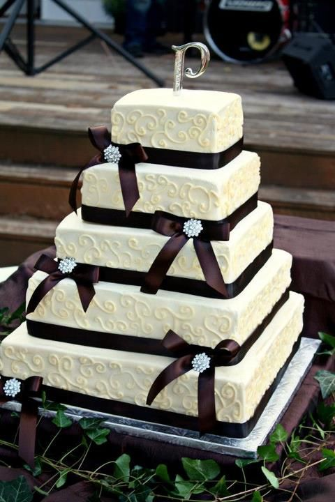 Other / Mixed Shaped Wedding Cakes - Square fall theme wedding cake
