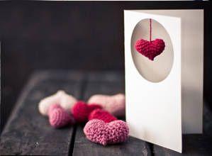 örgü kalp hediye yapımı