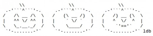 Jack-O-Lanterns in ASCII Art