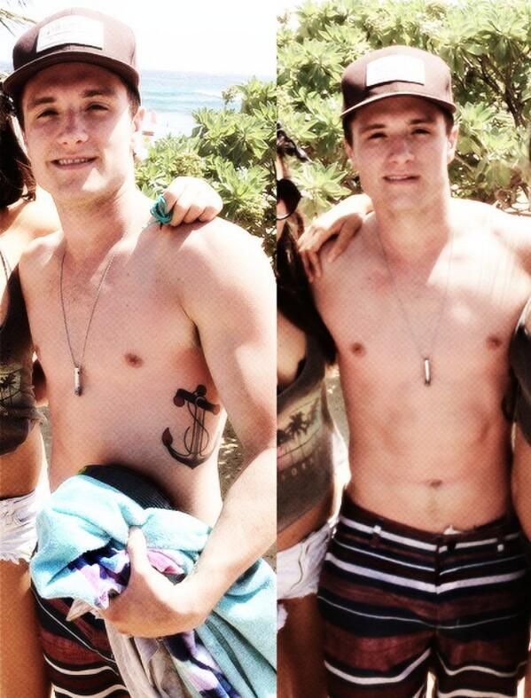 @H A L E Y |  V A N  |  L I E W ⚓: Josh Hutcherson shirtless I'm not ok wow i am sweating.