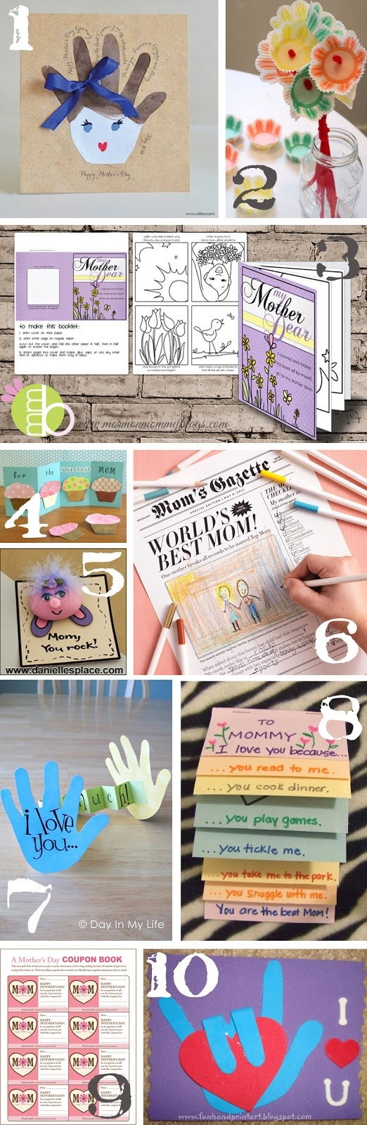 Craft ideas for Mother's Day - good for groups - teachers