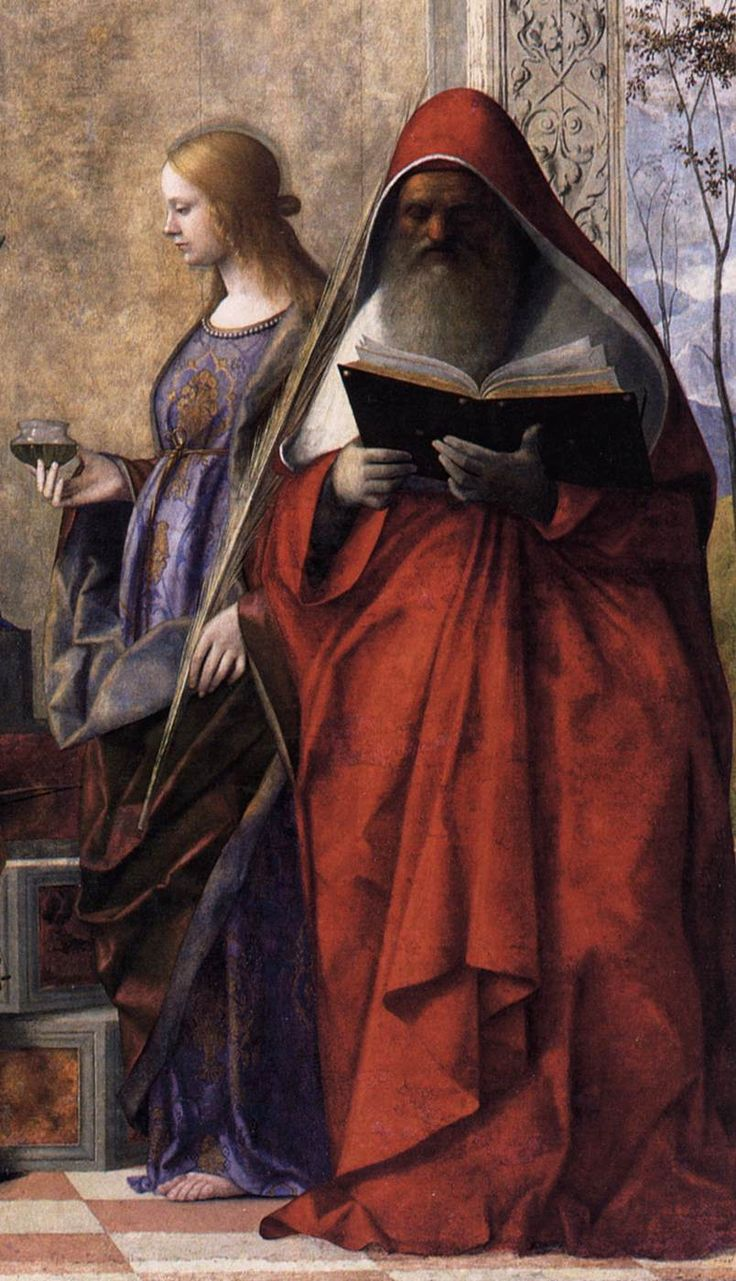 San Zaccaria Altarpiece (detail),1505. Giovanni Bellini(Italian, c.1426-1516).Oil on canvas, transferred from wood.San Zaccaria, Venice....
