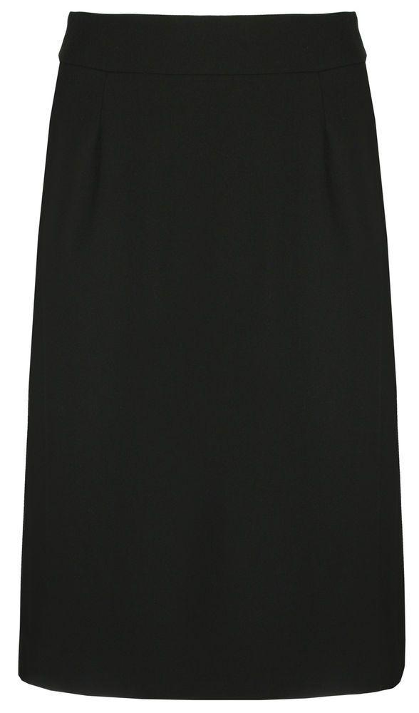Elvi Womens Plus Size Ladies Black Classic Skirt - Sizes 16-26