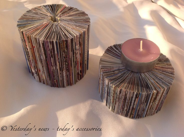 Candle holders by Yesterday's news - today's accessories