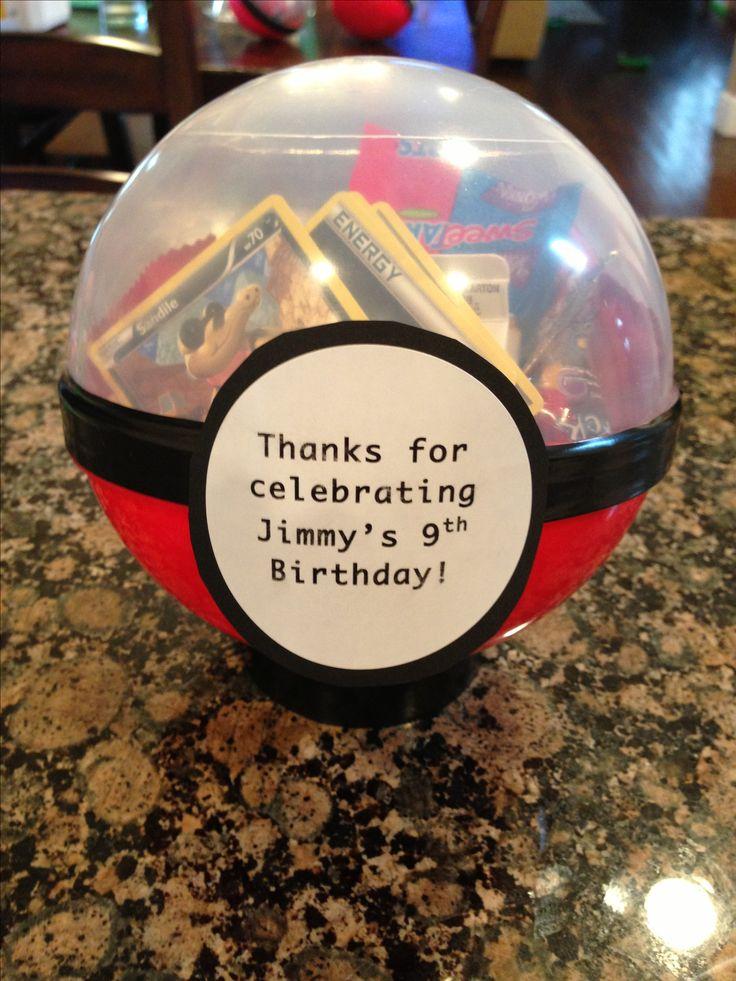 Pokemon Party Favor Birthday Ideas Pinterest