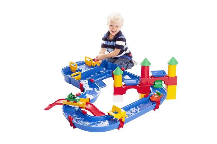 Aquaplay Kanalsystem med Sluss, Slott och Bro