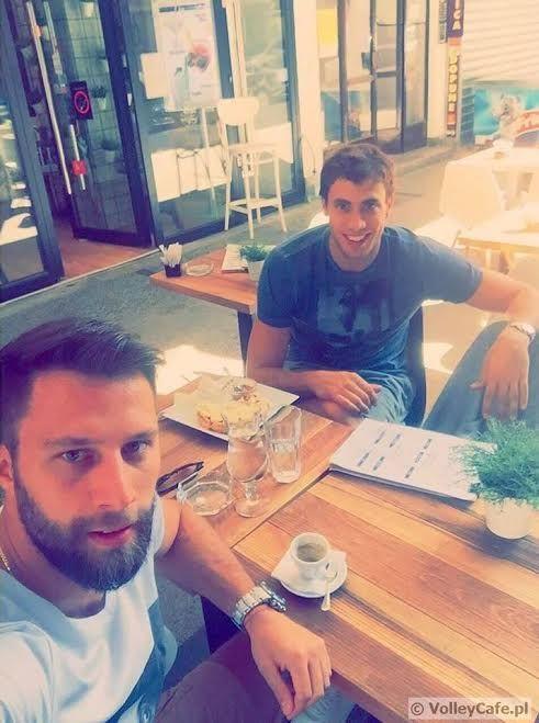 Aleksandar Atanasijević and #coffeetime! coffee #cafe #volleyball #interview