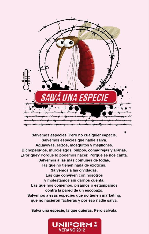 Manifiesto campaña Verano Uniform 2012 - Salvá una especie