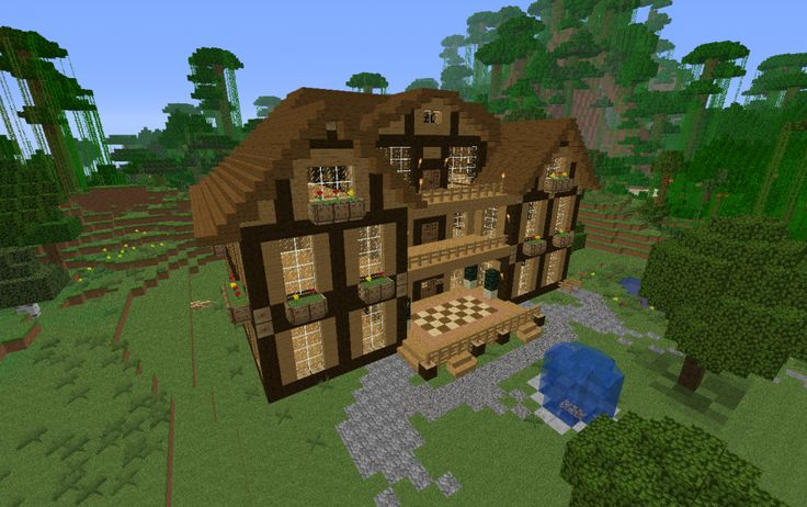 Large picture 900 565 minecraft pinterest for Minecraft big modern house schematic