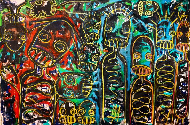 Aboudia, Spiritual Conversations, 2014