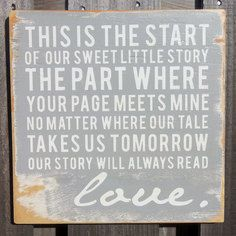 Sweet Little Story Sign Grey, $35, now featured on Fab.