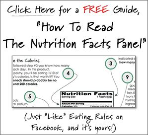 Free download of Nutrition Facts Panel from Eating Rules website