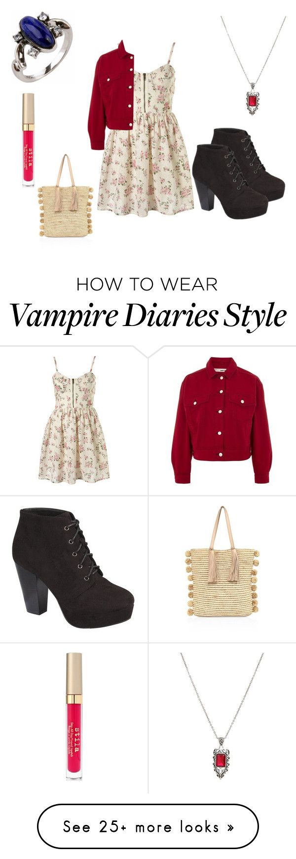 """""""summer outfit 68"""" by adelineojeda on Polyvore featuring Hot Topic, Stila, Loeffler Randall, Wild Diva and Topshop"""