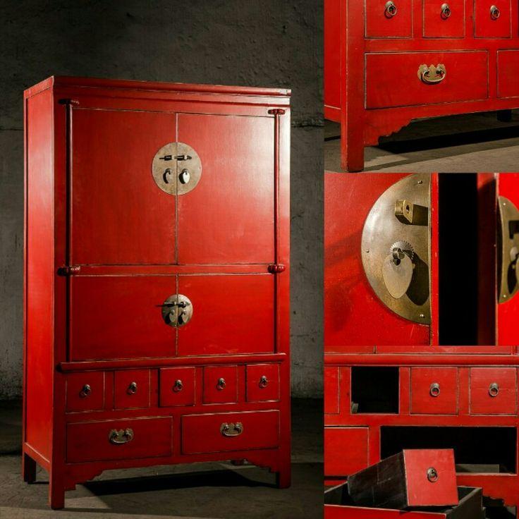 BF-20552 - Гуй- одноярусный шкаф для кухни. Династия Мин  Размер: 105*50*170  Этот китайский кухонный шкаф аскетичный и очень практичный. Традиционно, как и сегодня, он  использоваться для хранения кухонной утвар: изделий из стекла, приборов, салфеток, горшков  или продуктов питания. Верхний отсек имеет полку.   #шкаф #Китайщина #красныйшкаы #буфет #сервант #эклектика #этно #этнияескаямебель #kitaischina #ethno #eclectic